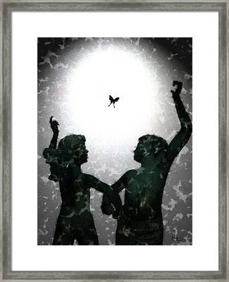 Dancing Silhouettes Framed Print by Holly Ethan