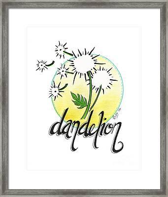 Dandelion Framed Print by Cindy Garber Iverson