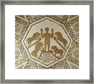 Daniel In The Lions' Den Framed Print by Roman School