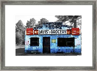 Davis' Grocery Framed Print by Steven  Michael