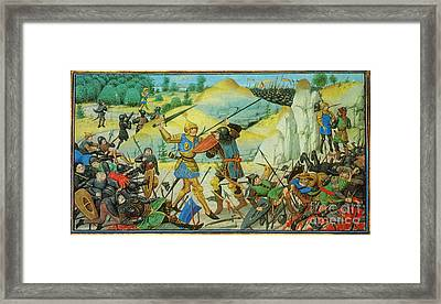 Death Of Roland At The Battle Framed Print by Photo Researchers