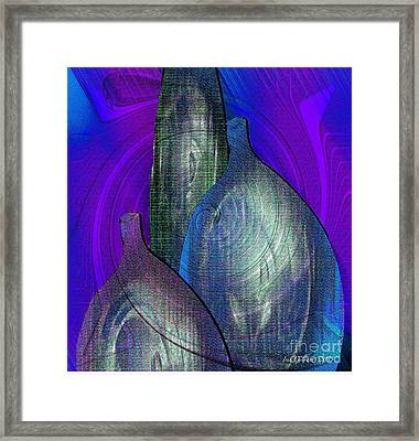Decanters Framed Print by Iris Gelbart