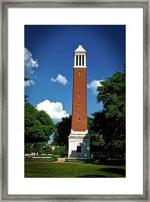 Denny Chimes - University Of Alabama Framed Print by Mountain Dreams