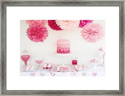 Dessert Table Framed Print by Ruth Black