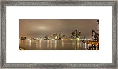 Detroit At Night Framed Print by Andreas Freund