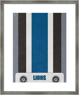 Detroit Lions Helmet Art Framed Print by Joe Hamilton