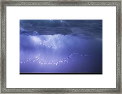 Dia Country Farm Field Lightning Striking 85 Framed Print by James BO  Insogna
