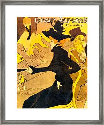 Divan Japonais Framed Print by Toulouse Lautrec