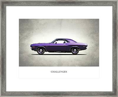 Dodge Challenger Framed Print by Mark Rogan