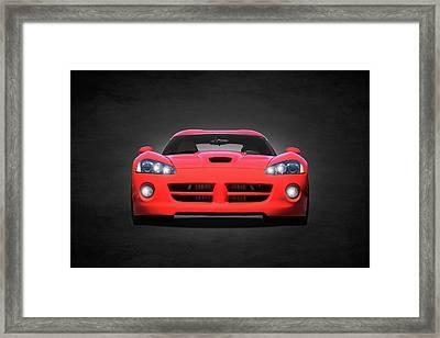 Dodge Viper Framed Print by Mark Rogan