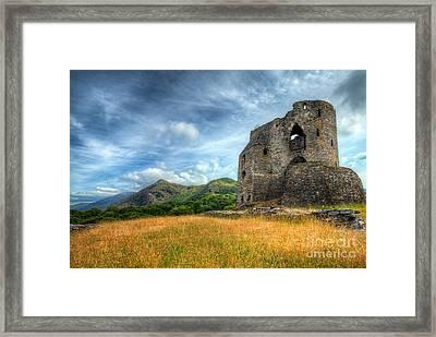 Dolbadarn Castle Framed Print by Adrian Evans