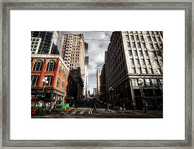Downtown Seattle Framed Print by Mountain Dreams