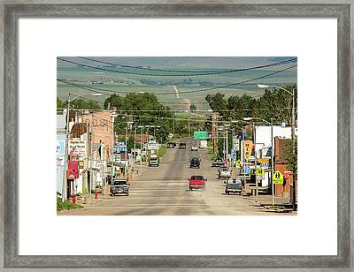 Dusty Mountain Town Framed Print by Todd Klassy