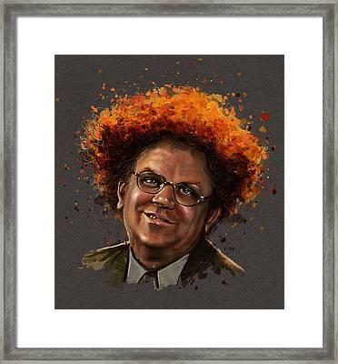Dr. Steve Brule  Framed Print by Fay Helfer