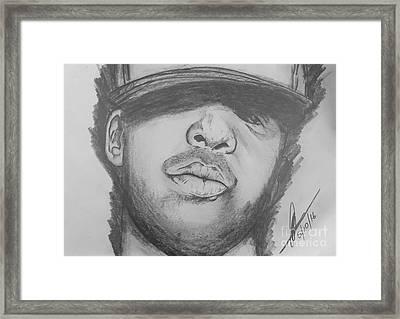 Drake  Framed Print by Collin A Clarke
