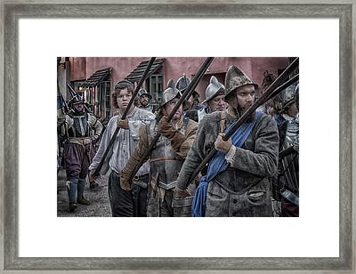 Drakes Raid Of St Augustine Fl Pikes Framed Print by JoeDes Photography