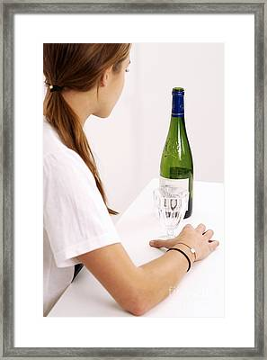 Drinking Wine Framed Print by Lea Paterson