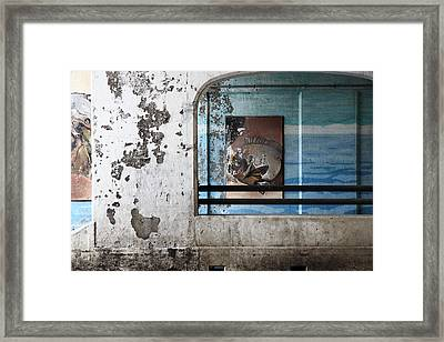 Drowning Framed Print by Kreddible Trout