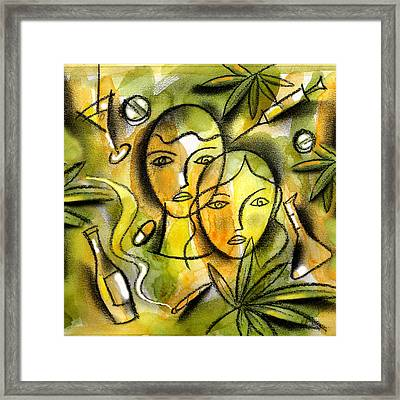 Drugs Framed Print by Leon Zernitsky