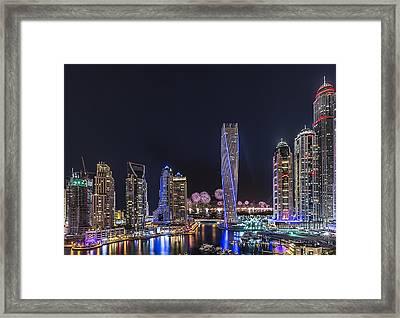 Dubai Marina Framed Print by Vinaya Mohan