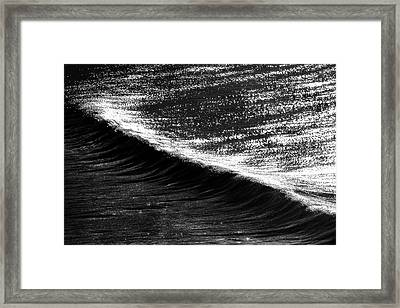 Dynamic Curve Framed Print by Sean Davey
