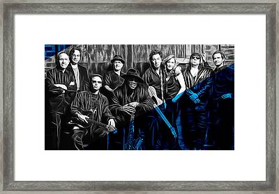 E Street Band Collection Framed Print by Marvin Blaine