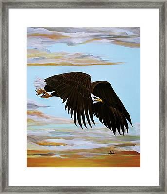 Eagle Stealth Framed Print by Adele Moscaritolo