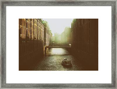 Early Morning In Hamburg Framed Print by Mountain Dreams