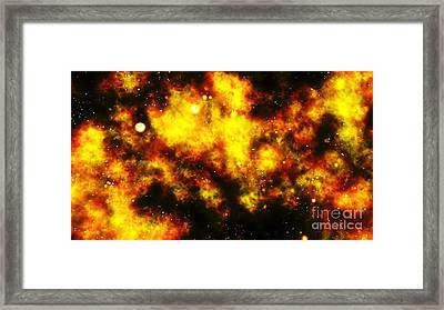 Early Universe, Artwork Framed Print by Equinox Graphics