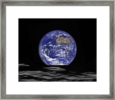 Earthrise Framed Print by Mark Kiver