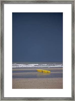 East Riding, Yorkshire, England Surf Framed Print by John Short