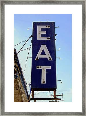 Eat  Framed Print by Jame Hayes