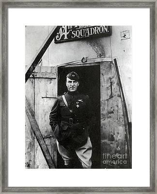 Eddie Rickenbacker, Wwi American Flying Framed Print by Science Source