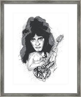 Eddie Van Halen Framed Print by Gary Bodnar