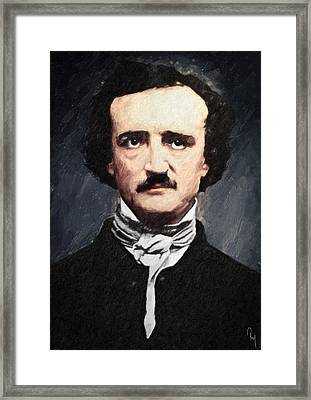 Edgar Allan Poe Framed Print by Taylan Soyturk
