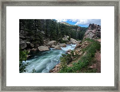 Eleven Mile Canyon Framed Print by Larry Pacey