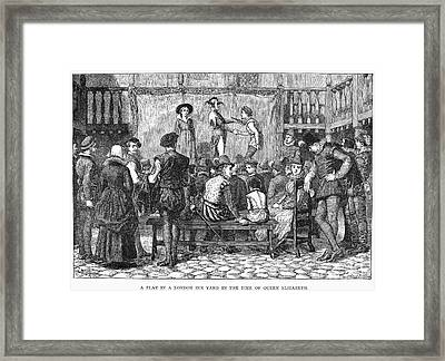 Elizabethan Theatre Framed Print by Granger