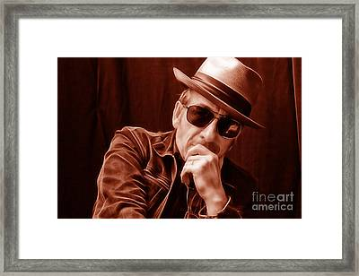 Elvis Costello Collection Framed Print by Marvin Blaine