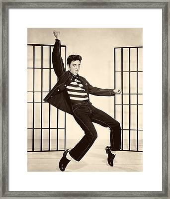 Elvis Presley In Jailhouse Rock 1957 Framed Print by Mountain Dreams
