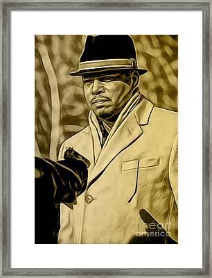 Empire's Terrance Howard As Lucious Lyon Framed Print by Marvin Blaine