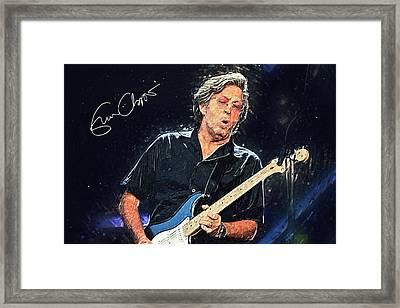 Eric Clapton Framed Print by Taylan Soyturk