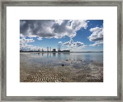 Esbjerg Harbor Denmark, Metropol Of Energy Framed Print by Frank Bach