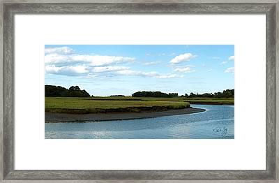 Essex River Framed Print by Paul Gaj