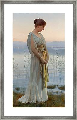 Evening By The Lake Framed Print by Mountain Dreams