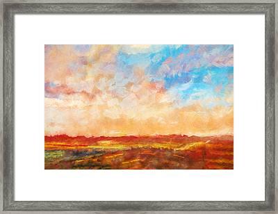 Evening Sky Framed Print by Lutz Baar