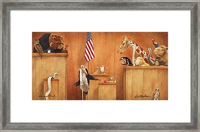 Ewe Is On Trial... Framed Print by Will Bullas
