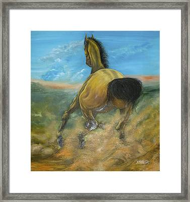Expression Of Muscle Liberated Framed Print by Hebert Arboleda