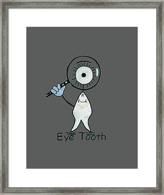 Eye Tooth Framed Print by Anthony Falbo
