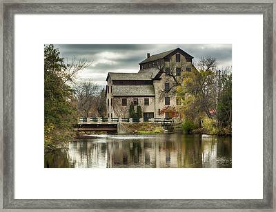 Fall At The Mill Framed Print by Jeffrey Ewig