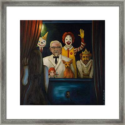 Fast Food Nightmare 4 Framed Print by Leah Saulnier The Painting Maniac